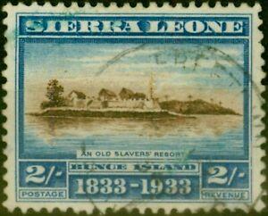 Sierra Leone 1933 2s Brown & Lt Blue SG177 Fine Used