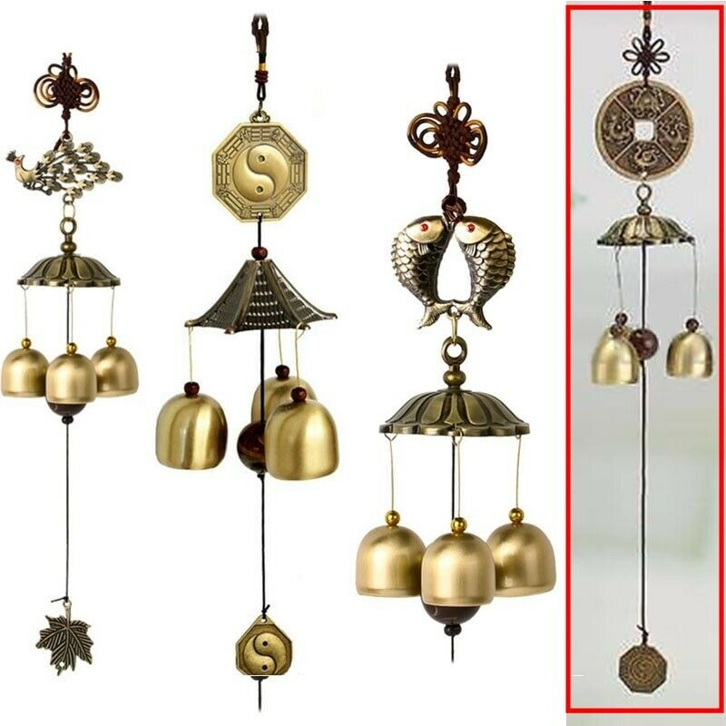 Coin Wind Chime Copper Wind-bell Garden Home Metal Wind Chime