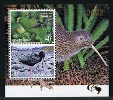 Neuseeland New Zealand 2001 Vögel Birds Limited Edition Block 116 MNH M€ 140