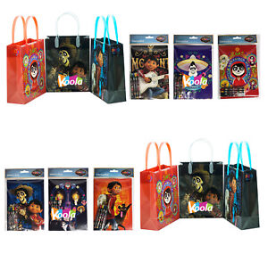 12pc coco disney pixar birthday party supply favor gift bags w image is loading 12pc coco disney pixar birthday party supply favor negle Choice Image