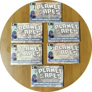 Planet-of-the-Apes-Mag-cover-trading-cards-COMPLETE-6-PACK-SET-of-30-CARDS