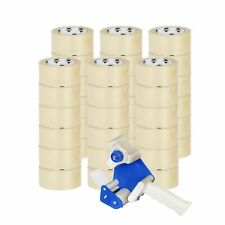 Free Dispenser With 36 Rolls Clear Packing Tape 25 Mil Thick 2 Inch X 110 Yards