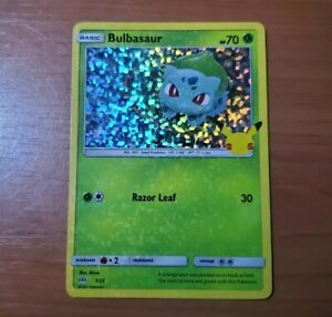 HOLO BLEED 2021 Pokemon McDonalds 25th Anniversary Bulbasaur 1/25 MISPRINT