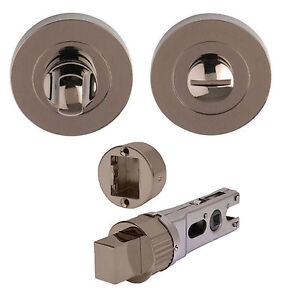 Chrome Bathroom Lock Black Nickel Thumb Turn /& Release Duo Black