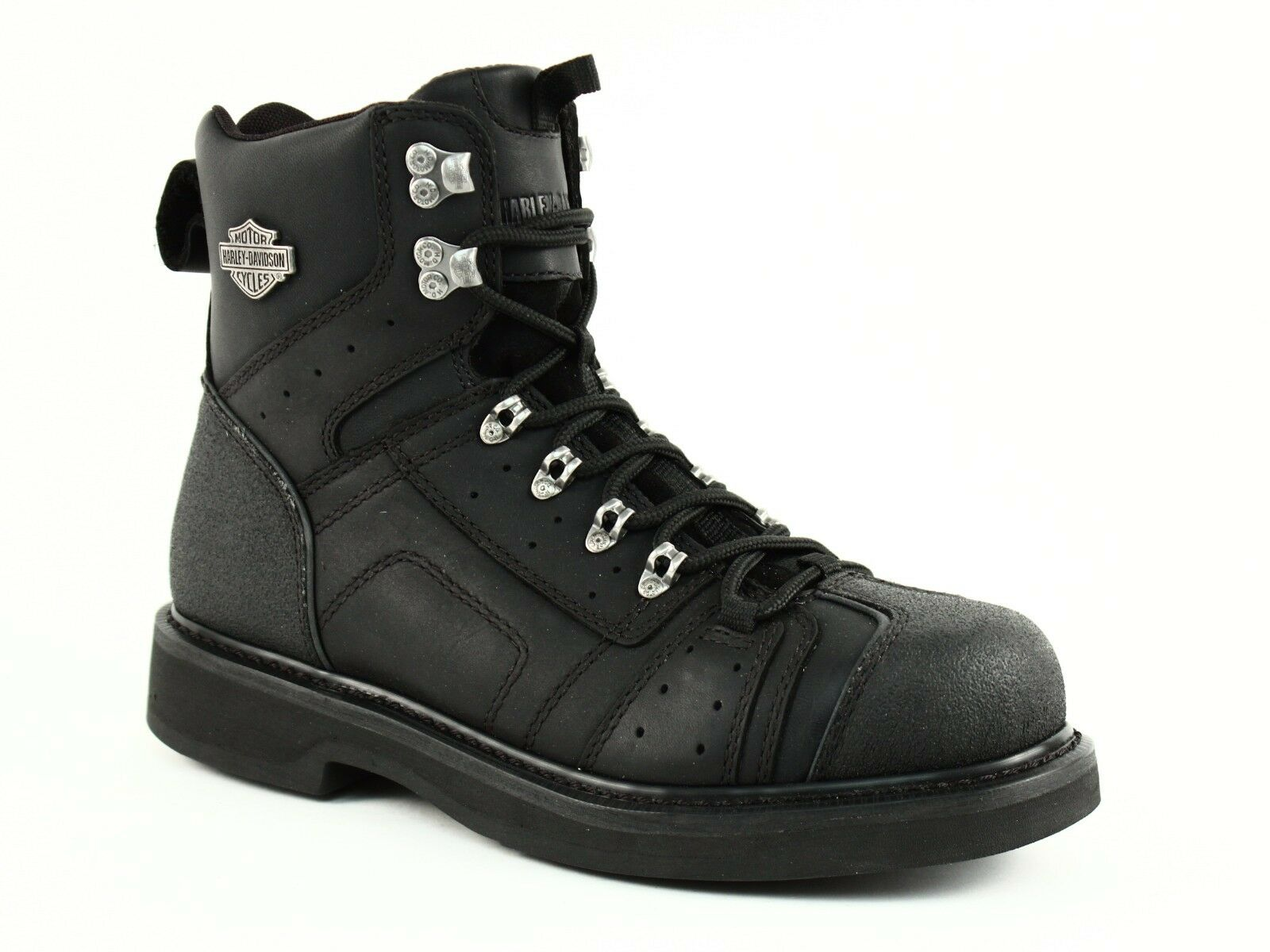 Harley Davidson LENNI Mens Motorcycle Riding Lace Zip Black Leather Boot US-9