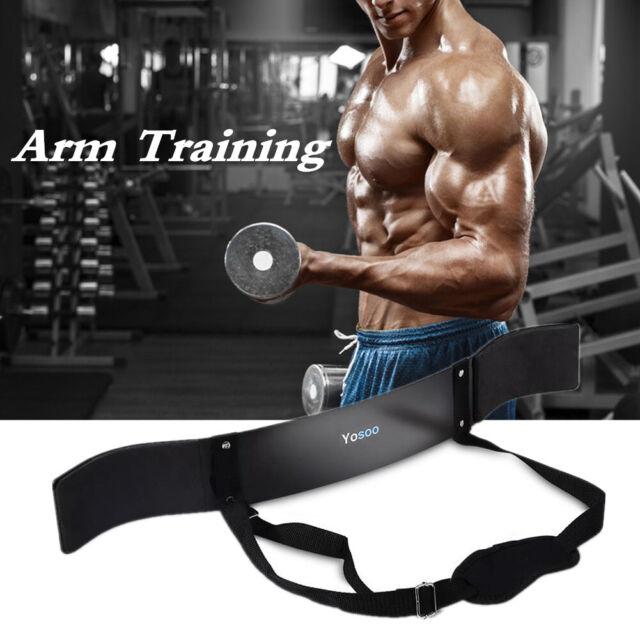 Evo Gewichtheben Arm Blaster Bizeps Isolator Fitness Unterstützung Gurt Pro
