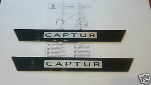 paire seuils de porte renault captur original pair door sill plates 8201401380 ebay. Black Bedroom Furniture Sets. Home Design Ideas