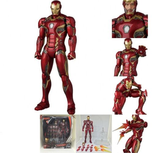 Mafex Nº 022 Marvel Avengers Iron Man Mark 45 Action Figure Nuovo in Scatola