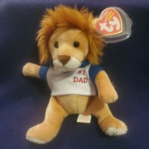 TY Beanie Baby - MY DAD the Father's Day Lion (7 inch) -MWMTs Stuffed Animal Toy