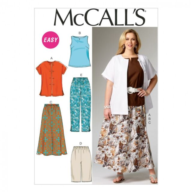 Tops Skirt /& Pants Sizes 8-24W BN McCalls M7548 PATTERN Misses//Womens Jacket