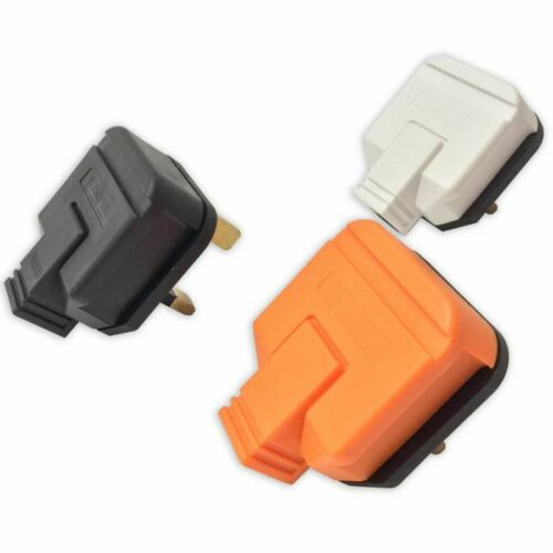 blanc 13 A Plug Top Heavy Duty caoutchouc permaplug Fondue 3 broches bouchons-noir orange