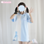 Preppy-Style-Japanese-Loli-Girl-Cute-Bandage-Navy-T-shirt-Dresses-Short-Sleeve thumbnail 1
