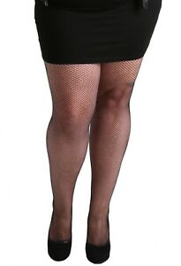 ce3faace595 Classic Black Fishnet Tights Plus Size Pamela Mann Legwear XL 2XL ...
