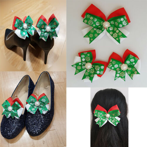 Christmas Shoe Clips and Hair Clip