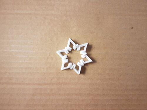 Flocon de neige Hiver Noël Forme Cookie Cutter Noël Biscuit Pâtisserie Fondant Sharp