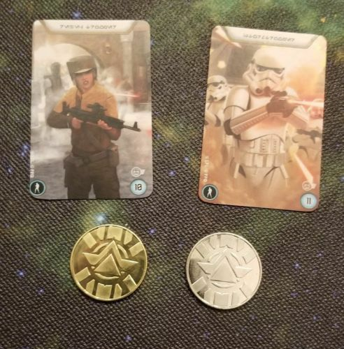 2 Coins 2 Mini Token Cards Star Wars Legion Recruitment Kit OP Promo Set