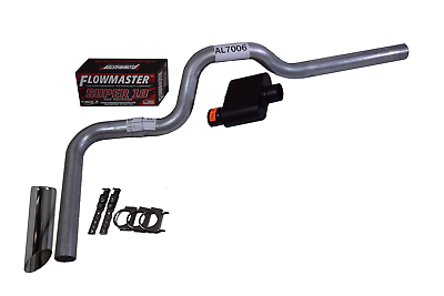 All-Stainless Dual Exhaust Chevy GMC 1500 07-14 Flowmaster Super 44 Slash Tip