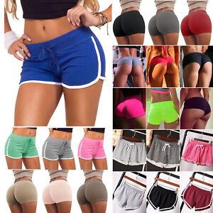 Womens-Sports-Yoga-Gym-Hot-Pants-Athletic-Activewear-Mini-Shorts-Jogger-Traniers