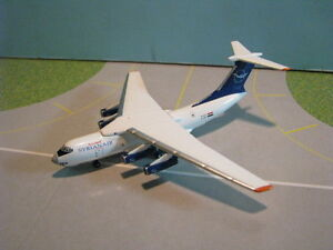 INFLIGHT-500-MODELS-SYRIAN-AIR-IL-76-1-500-SCALE-DIECAST-METAL-MODEL