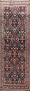 Geometric-Semi-Antique-Mahal-Traditional-Runner-Rug-Wool-Hand-knotted-3x9-Carpet