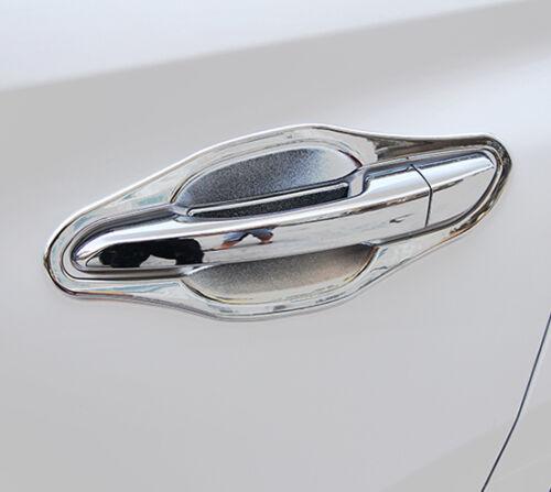 ABS Matte Door Handle Bowl Chrome Cover Cup Trim Insert For Hyundai Tucson 2016