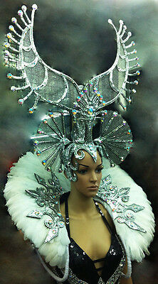 Da NeeNa C057 Showgirl Burlesque Elegant Snow Queen  Headdress Backpack