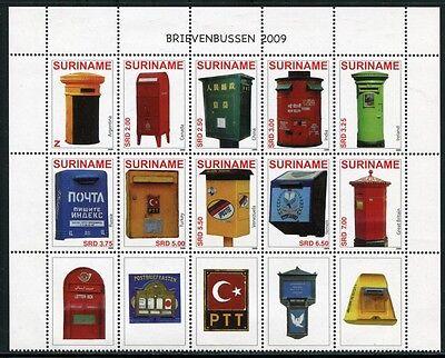 Symbol Der Marke Surinam 2009 Briefkästen Letter Boxes Brievenbussen 2281-2290 Postfrisch Mnh Knitterfestigkeit Süd- & Mittelamerika