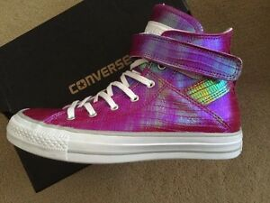 Da Donna Converse Chuck Taylor Chrome All Stars Brea Hi Tops Ltd Edition RRP 100