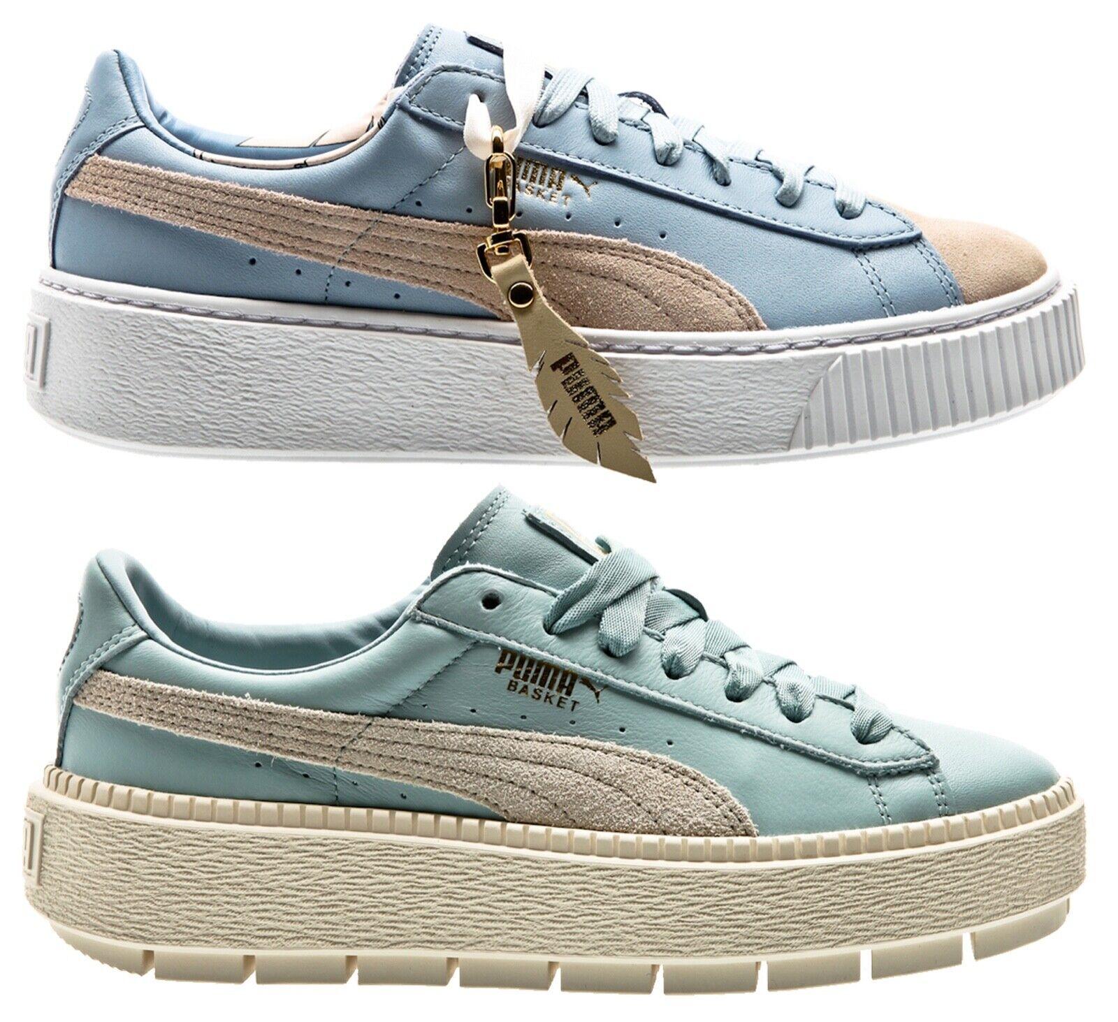 Puma Platform Basket animal Suede Classic mujer zapatillas Zapatos señora