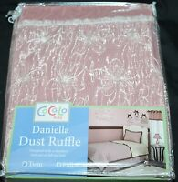 Cocalo Daniella Twin Dust Ruffle Bedskirt Mauve In Pkg
