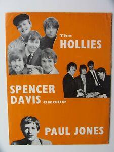 THE-HOLLIES-1967-U-K-TOUR-PROGRAMME-SPENCER-DAVIS-TREMELOES-PAUL-JONES