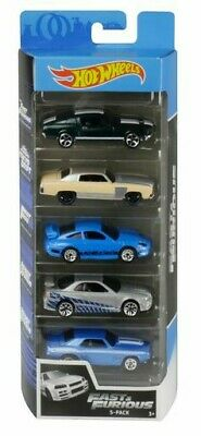 2020 Hot Wheels Fast Furious 5 Pack Mustang,Monte Carlo,Porsche,Skyline,Camaro!