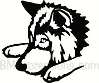 Wolf Face Type A Vinyl Decal Your Color Choice Sticker