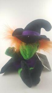 24K BEANIE BOPPERS Trick or Treat Witch Lucretia 1997 PLUSH STUFFED ANIMAL