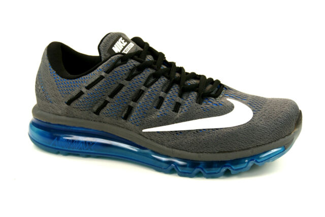 huge selection of e5520 58161 Nike Air Max 2016 Grey Blue Mens Cushion Running Shoes 360 8