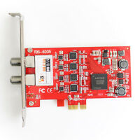 TBS 6205 DVB-T2 DVB-C Quad TV Tuner PCIe Card - Ideal 4 Tuner Freeview Card