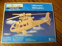 1959) Creatology 3-d Wooden Puzzle Helicopter 2 Sheets Sealed
