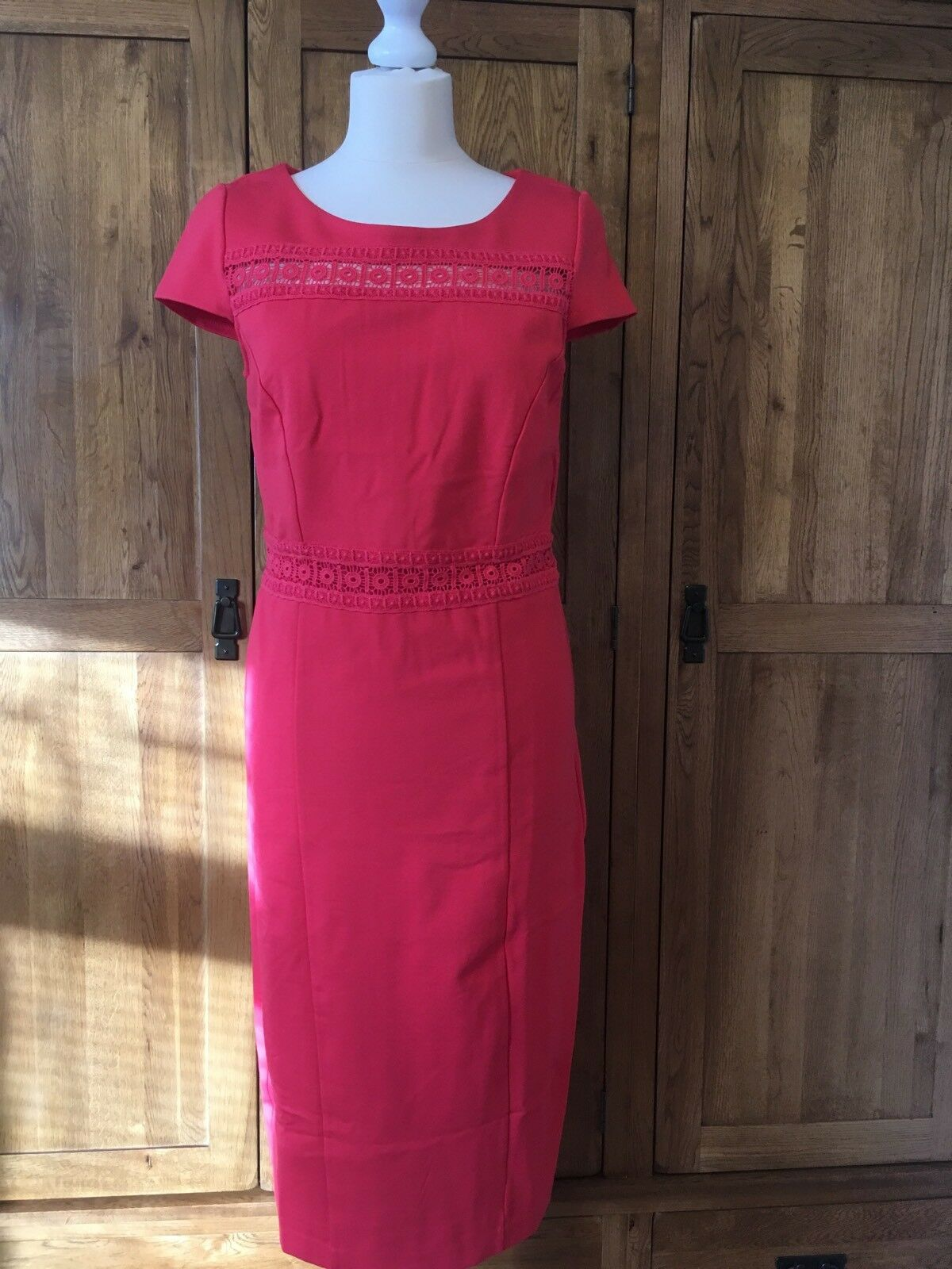 Boden Hera Ponte Dress WW232 Pink, Size 12L
