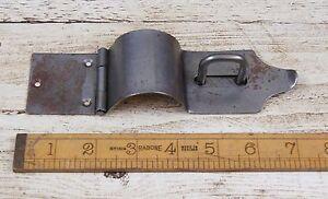 1 x IRON CASE HASP & STAPLE Bull Nose Antique Iron 175mm
