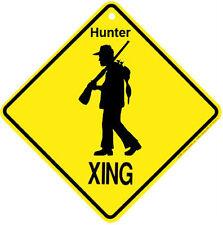 funny man cave XING Crossing caution plastic sign Hunter duck gun decoy dynasty
