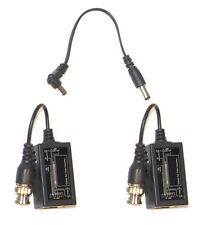 1 Pair BNC to RJ45 Cat5 Converter Video Balun CCTV PTZ Camera Power Connector