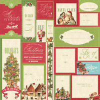 Christmas Scrapbook Paper 12 Yuletide Merry Christmas Foil Block Gold 6p Card