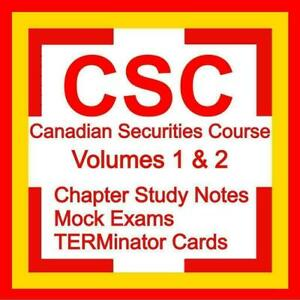 CSC Canadian Securities Course Certification Volumes 1 & 2 Exam Answers Preparation Study Notes Kit 2021 Canada Preview