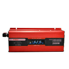 2000W Car Power Inverter DC12V to AC 220V Adapter Converter LCD Digital Display