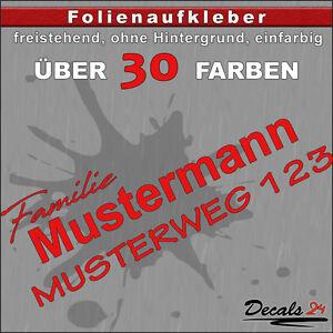 HN2-Hausnummer-Tuerschild-Aufkleber-Schild-Briefkasten-Nummern-Strasse