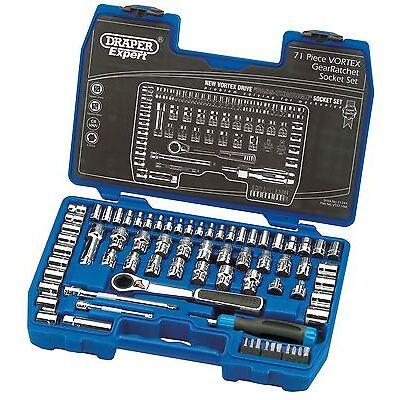 """Draper Expert 71 Piece Metric Vortex Drive Socket Set 71244 - 1/4"""" & 3/8"""" sq dr"""