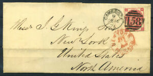 Grossbritannien-1871-Mi-28-Brief-100-CAMBRIDGE-NEW-YORK-GRACIEKING
