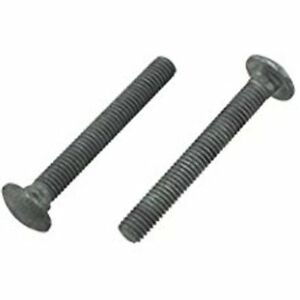100pc Hot Dipped Galvanized Carriage Bolts 1//4-20 x 2-1//2