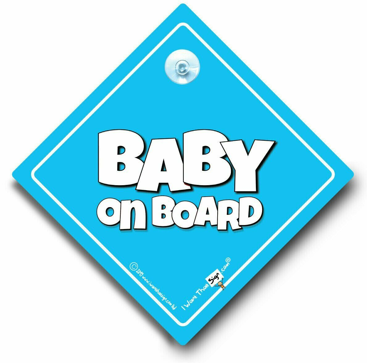 Baby Boy On Board Baby On Board Sign Powder Blue Suction Cup Car Sign
