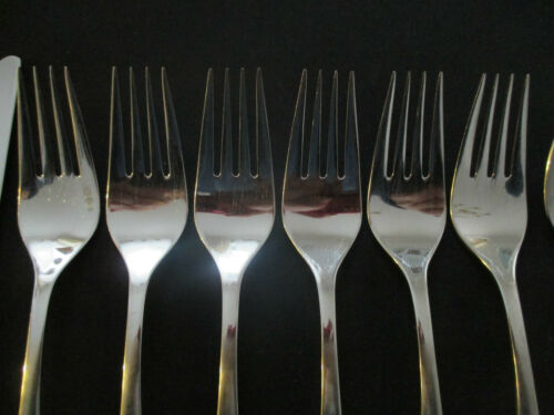 Wmf Lüneburg 6 le plat de résistance 19,6 cm Cromargan 6 pièces note 2 Fourchette de table fourche lire